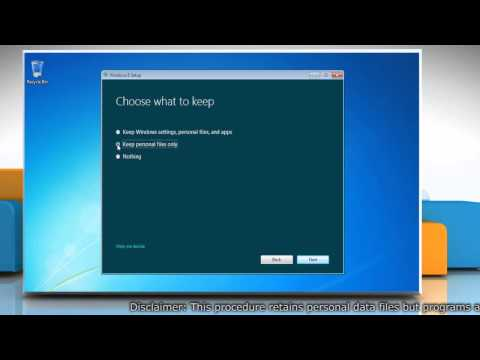 Custom Install Windows® 8 over Windows® 7 without Losing Data Files