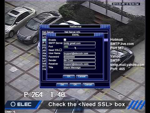 ELEC CCTV DVR Email Alerts