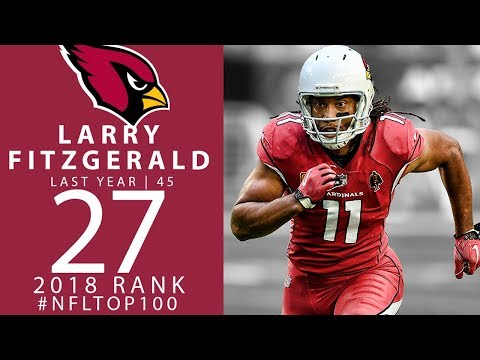 #27: Larry Fitzgerald (WR, Cardinals)   Top 100 Players of 2018   NFL