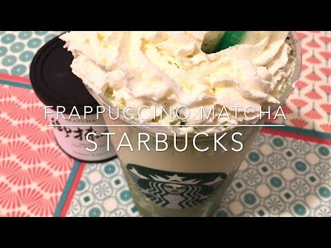 Recette - Starbucks Frappuccino Matcha - Starbucks Green Tea Frappuccino - HeyLittleJean