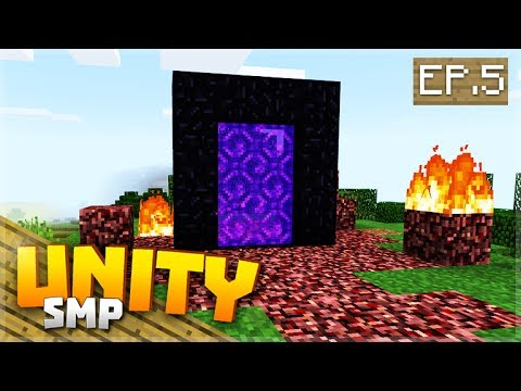 PORTAL TO ANOTHER WORLD! EP.5 - Minecraft Pocket Edition Unity Realm SMP
