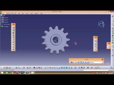 how to design simple gear using CATIA V5.