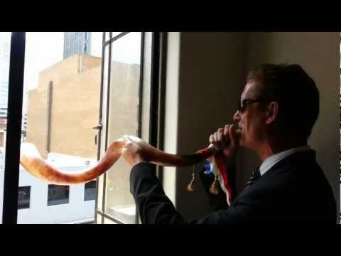 The Incredible sound of the Shofar -  Played by Nick Duffield - First Time Ever Playing a Shofar