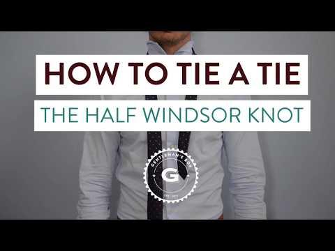 How To Tie The Half Windsor Knot | Gentleman's Box