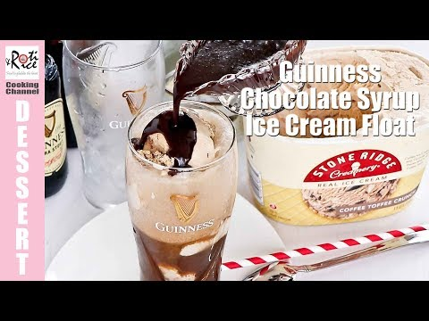 Guinness Chocolate Syrup Ice Cream Float | Roti n Rice
