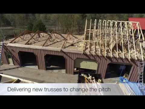 Roof Framing, Changing pitch of the roof
