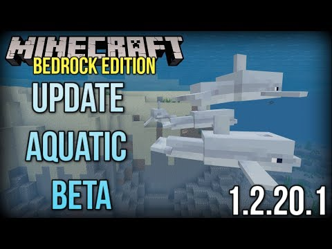 Minecraft Update Aquatic Bedrock Beta - Dolphins, Education Edition + MORE! (Xbox/Windows 10/PE)