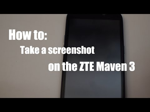 How to take a screenshot on the ZTE Maven 3