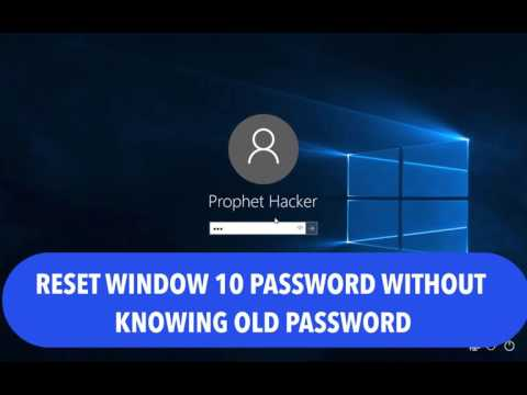 How to Reset Window 10 User Password without Knowing Old Password