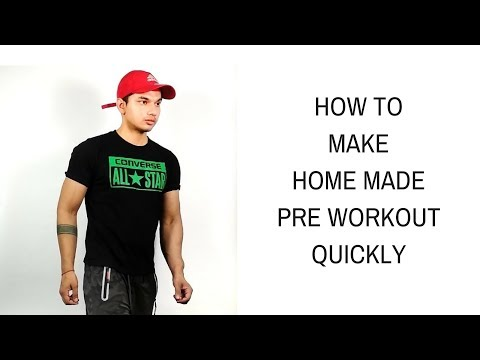 Best Home Made Pre Workout Drink | How To Make Your Own Pre Workout Supplement