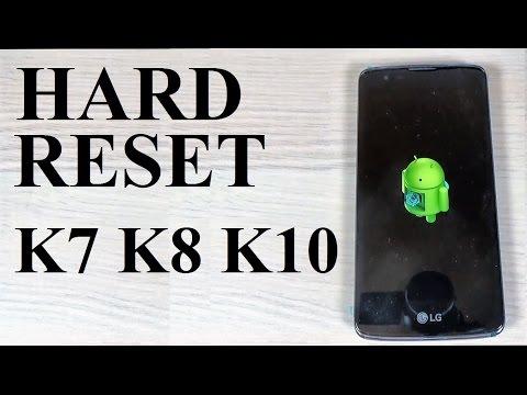 How to HARD RESET LG K7, K8, K10