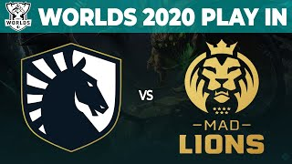 Liquid vs MAD Lions - Worlds 2020 Play In Day 1 - TL vs MAD