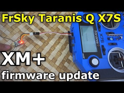FrSky XM+ receiver firmware update (RSSI value constant, Taranis Q X7S)