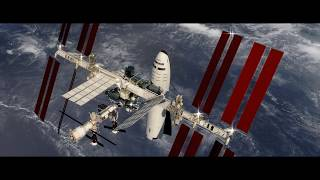 SpaceX BFR Arrives at ISS animation