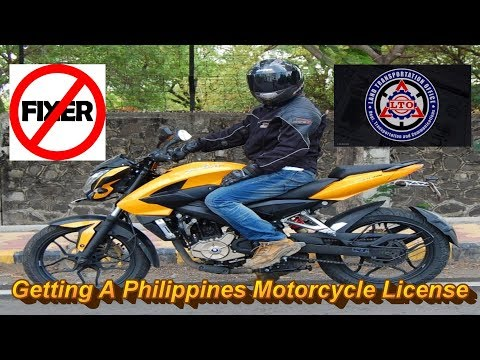 Motovlog # 3 : Foreigners Getting a Philippines Motorcycle Drivers Licence 2017 -