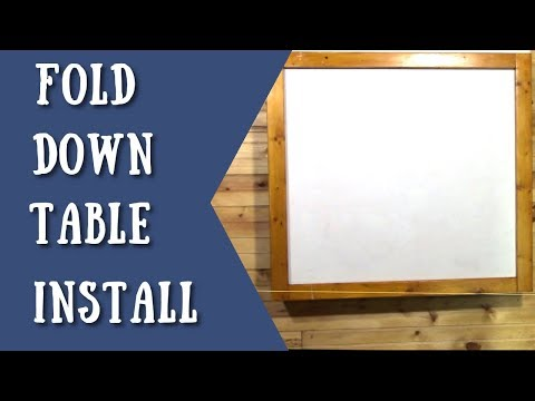 Hanging a custom made fold down table