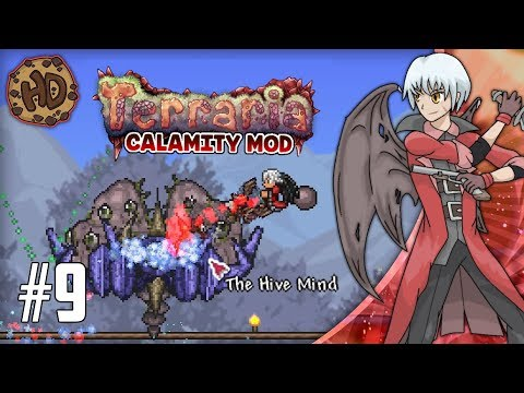 Terraria CALAMITY SUPER-MODDED Let's Play Part 9   HIVE MIND & SKELETRON!   1.3.5 Death Mode