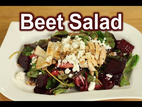 Balsamic Beet Salad Recipe With Grilled Chicken | Rockin Robin Cooks