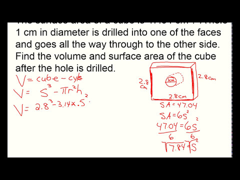 Surface area & volume of cube