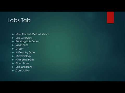 Intro to CPRS For Nursing Students 14: Notes Tab - Viewing Notes