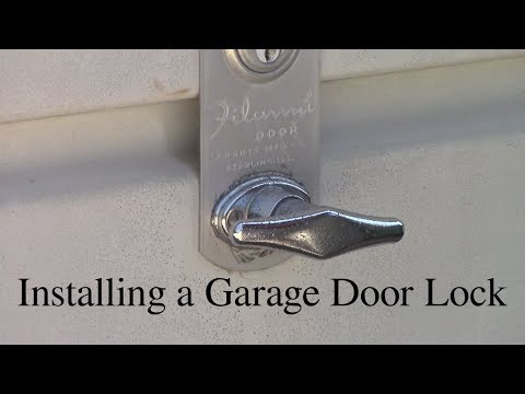 Installing a Garage Door Lock