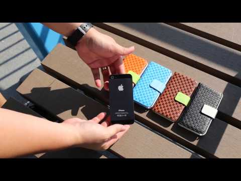 Checkered Pattern Leather Filp Case for Apple iPhone 5