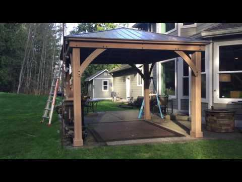 Pt. 3 Costco Yardistry 12x14 Wood Gazebo Final ASSEMBLY