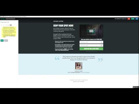 Designing a free wix.com email capture page and connecting mail chimp list