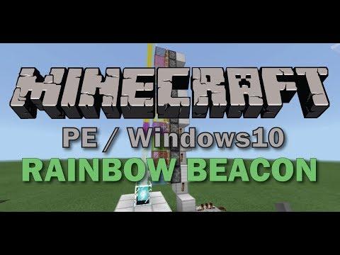 How to make Rainbow Beacon - MCPE 1.2 beta / W10Edition (WARNING: BUGS)