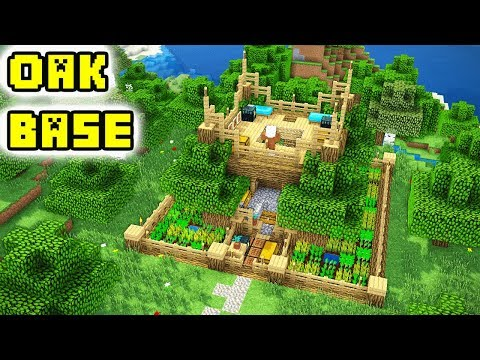 Minecraft: ULTIMATE Advanced Oak House/Base Tutorial (How to Build)