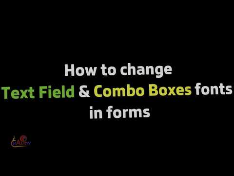 [How to] Change font in acrobat Form by Javascript