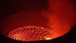 Nyiragongo Volcano, Virunga NP, DR Congo in 4K Ultra HD