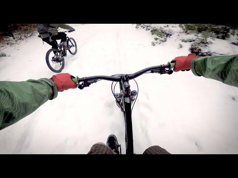 Its freezing outside lets go biking - part 1