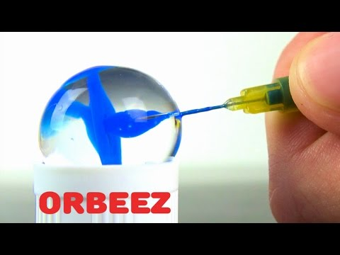 Experiment Grow Orbeez in Coca Cola, Fanta + Injections in Hydrogel Balls