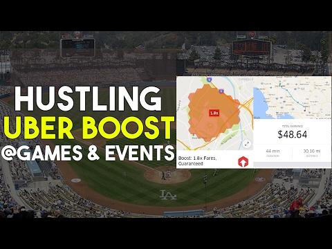 Uber Boost Hunting @ Dodger Stadium Baseball Game ⚾ | $48 Fare!