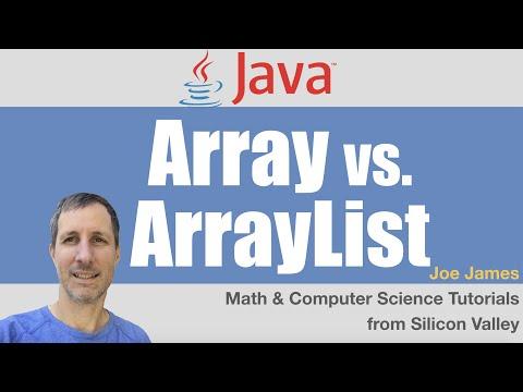 Java: Array vs ArrayList Difference