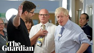 Boris Johnson confronted by father of sick child over NHS waiting times