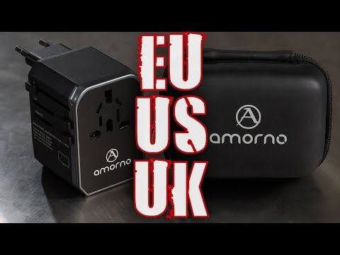 Power and USB International Travel Adapter by AMORNO