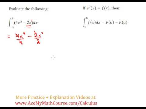 Definite Integral (Calculus) - Worked Example #2