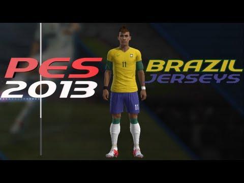 PES 2013 How to Create Brazil Kit Home + Away Jerseys