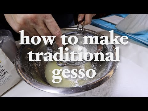 How to Gesso a Canvas - Making Traditional Gesso with Rabbit Skin Glue | Episode 59