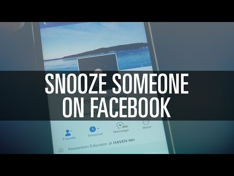 How to Snooze Someone on Facebook