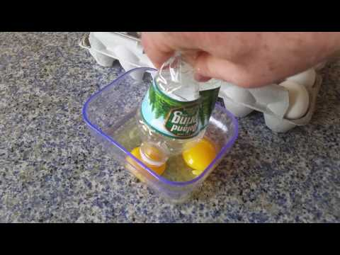 How to Remove Egg Yolks with Water Bottle - @OpieRadio