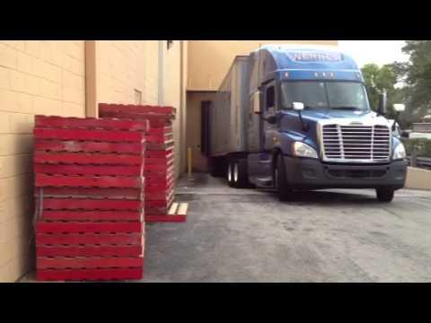 Backing to Home Depot dock for Werner Enterprises