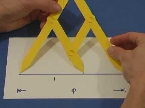 how to make golden ratio dividers out of paper.