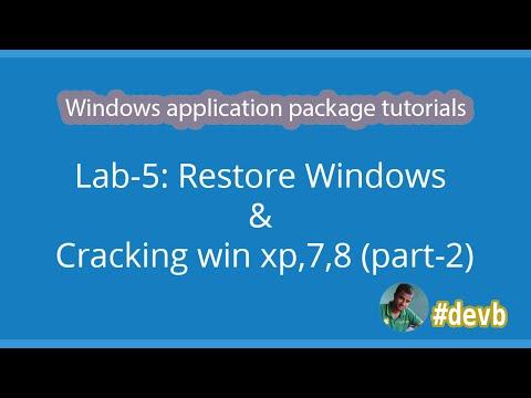 Lab-5 : Restore Windows & Cracking win xp,7,8 (Part-2)