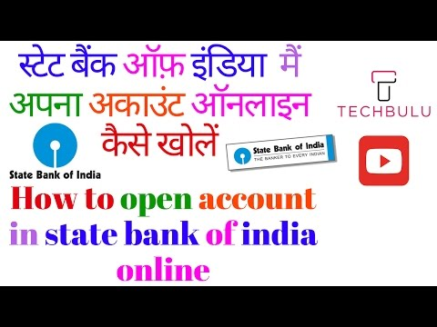 How to open sbi account online - Step by Step procedure - Live Demo - In Hindi