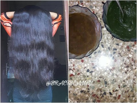Dye Hair Black Naturally With Henna & Indigo| Cover Greys & Get Jet Black Hair
