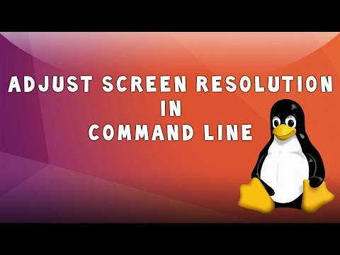 Linux: Adjust Screen Resolution In Command Line