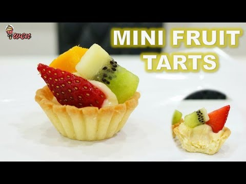 How to Make Mini Fruit Tarts! Pastry Crust, Custard Cream from Scratch!